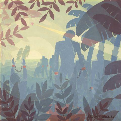 Aaron Douglas, Into Bondage, 1936, oil on canvas