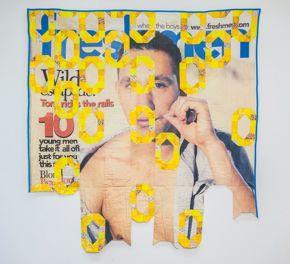 Aaron McIntosh, Freshman Magazine, August 2002 Issue (Broken Links), 2015, cotton and thread