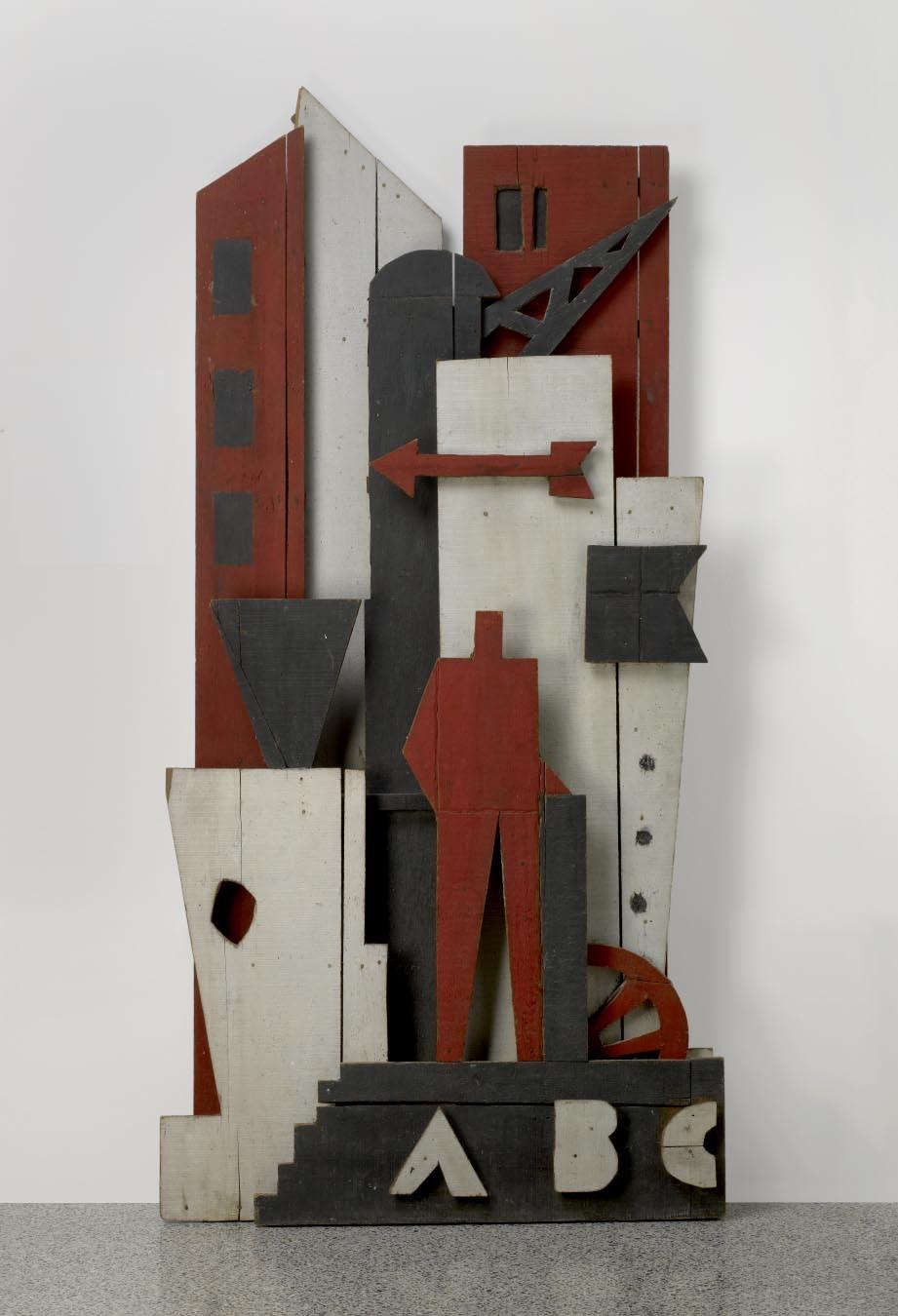 Alpuy- Construcción con Hombre Rojo
