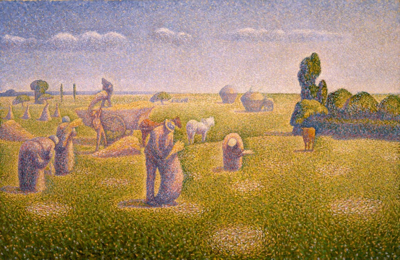 Charles Angrand, The Harvesters, 1891