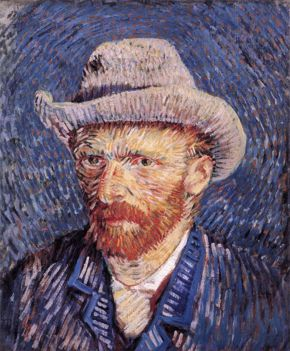 Vincent van Gogh, Self-Portrait with Grey Felt Hat, 1887, oil on canvas, Van Gogh Museum, Amsterdam.