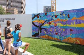 a+up cullen sculpture garden mural blog post - kids and mural