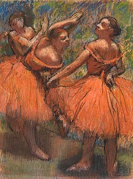 Group of Dancers (Red Skirts)