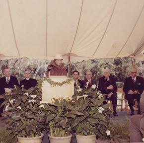 bayou bend 50th anniversary blog post - ima hogg at dedication ceremony