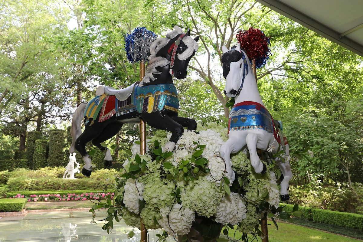Bayou Bend Children's Party 2017 - carousel horses