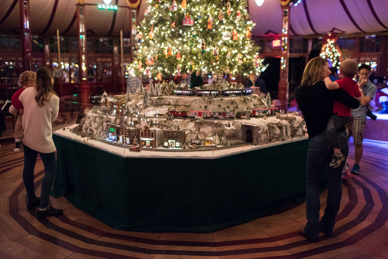 Bayou Bend Christmas Village 2016 - parents in Spiegeltent
