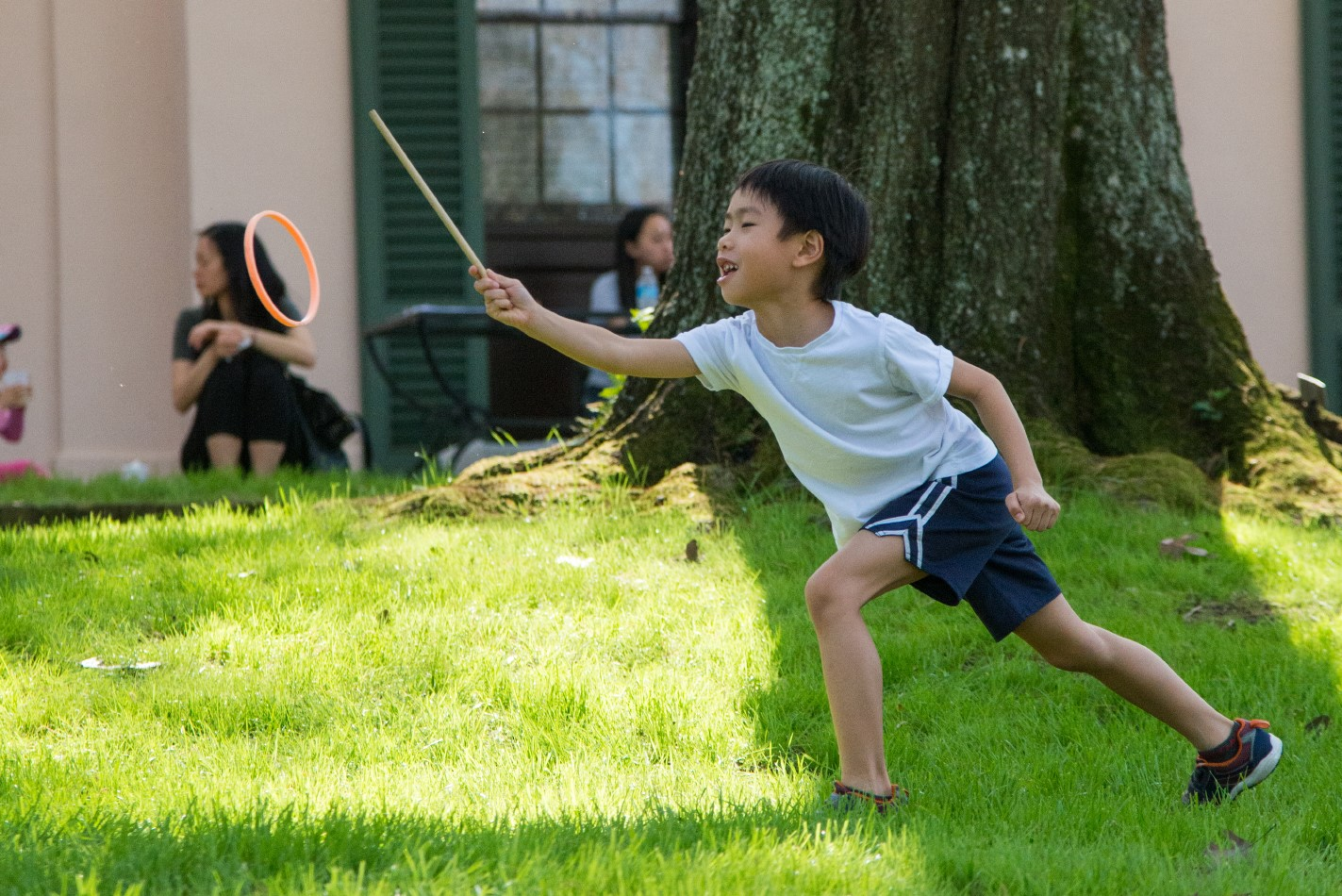 Bayou Bend Family Day - child playing hoop game