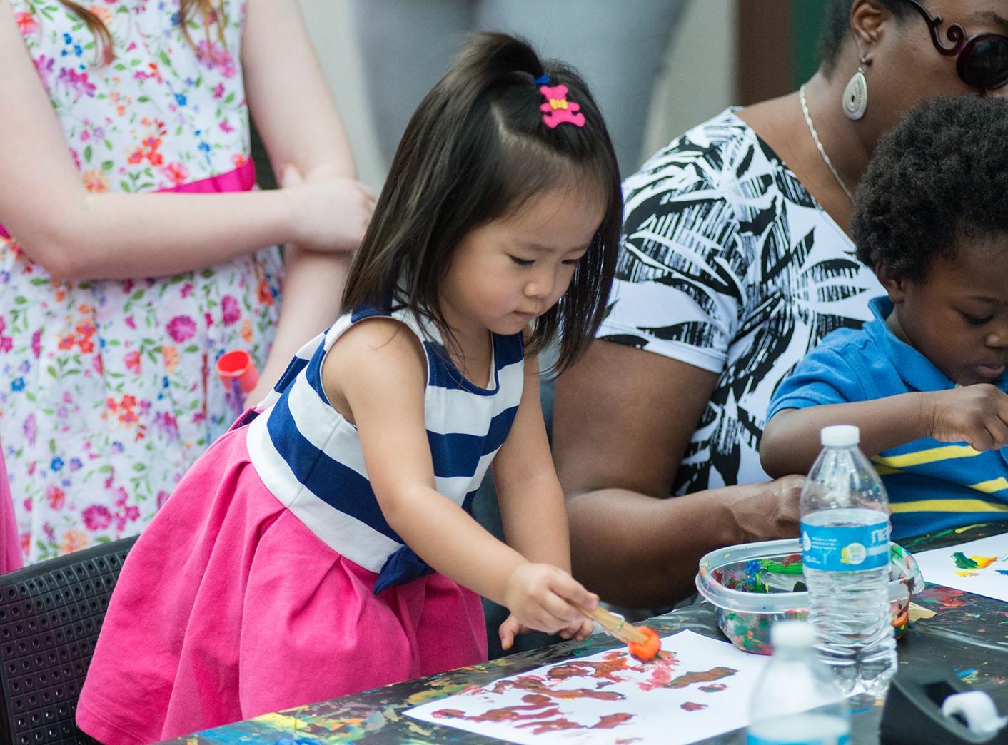 Bayou Bend Family Day - children's art-making