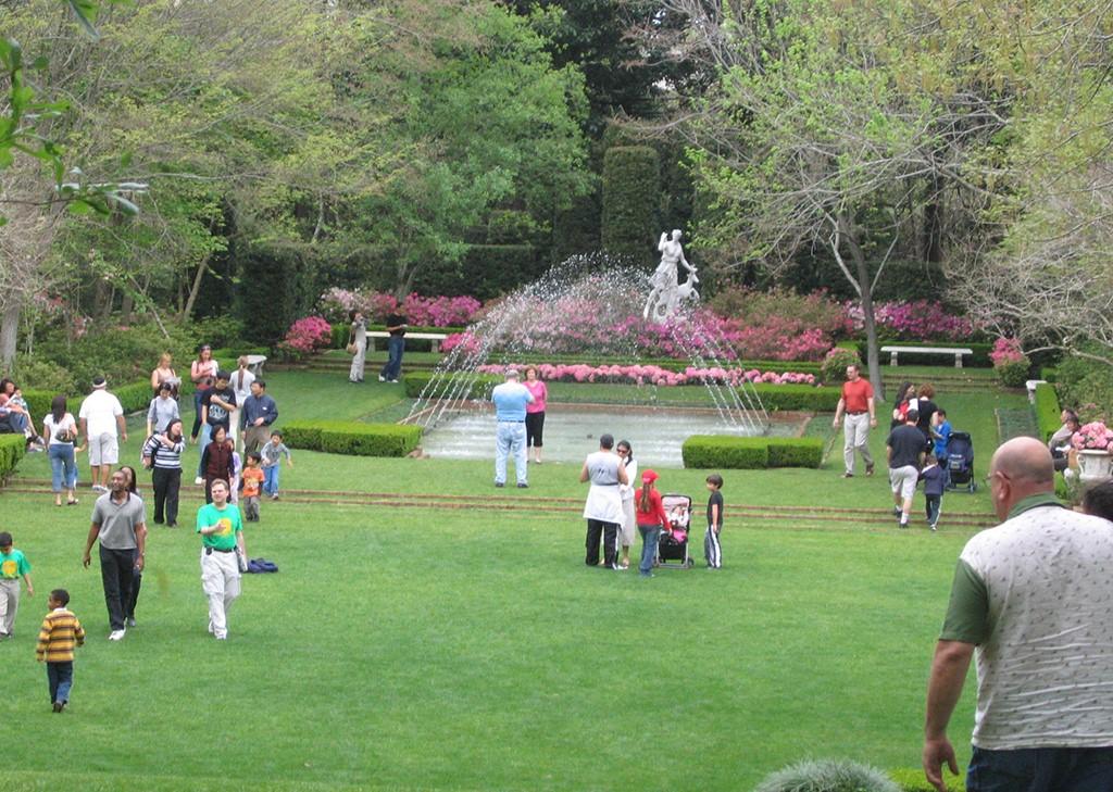 Bayou Bend Family Day - Diana garden with azaleas