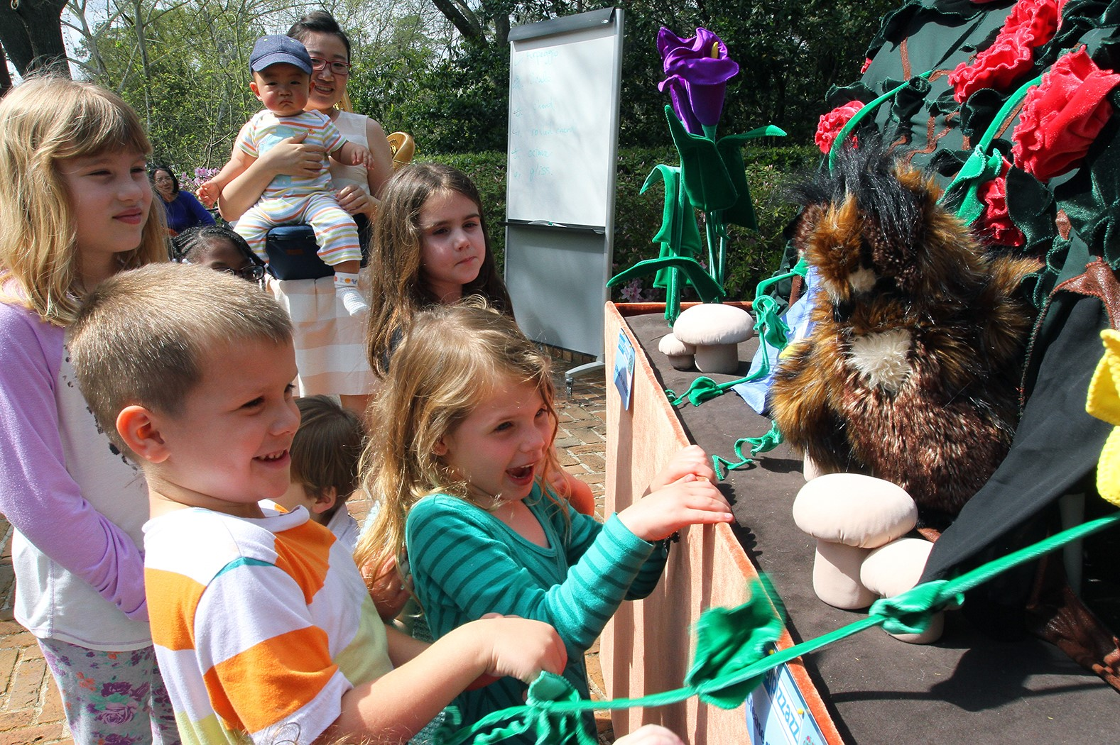 Bayou Bend Family Day or Spring Break - kids with puppet theater