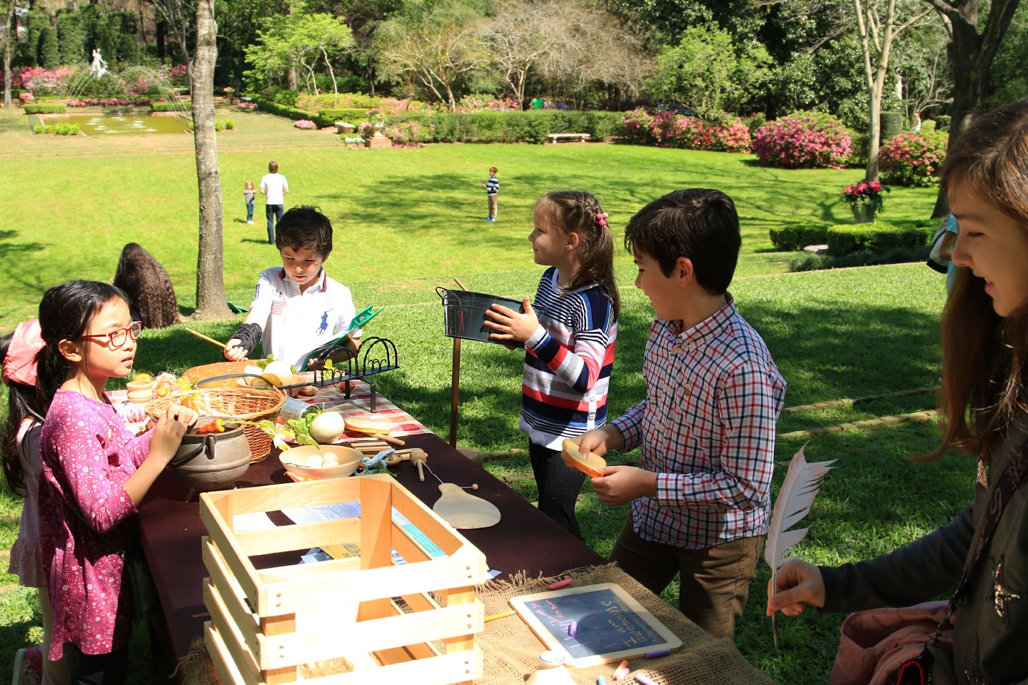 Bayou Bend Family Day / Spring Break - kids at table