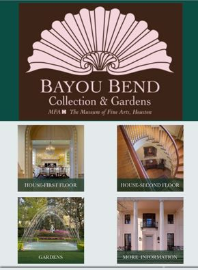 Bayou Bend Mobile Tour | home screen