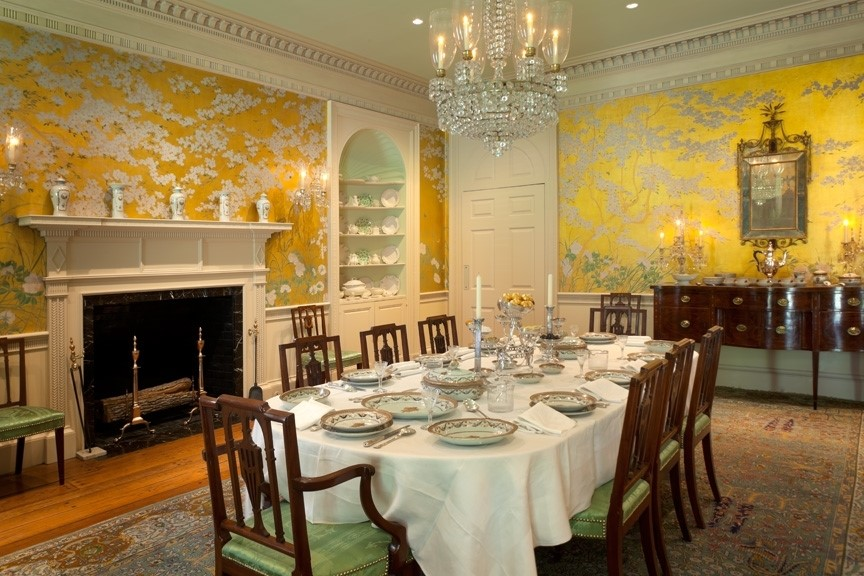 Bayou Bend period room interiors - Dining Room