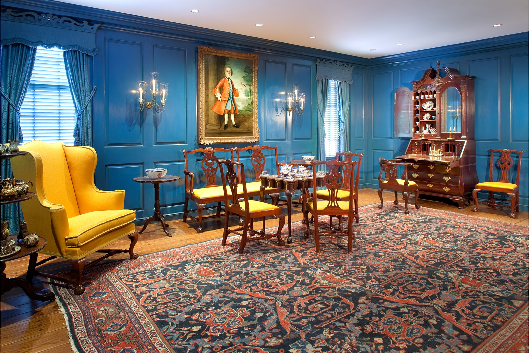 Bayou Bend period room interiors - Massachusetts Room