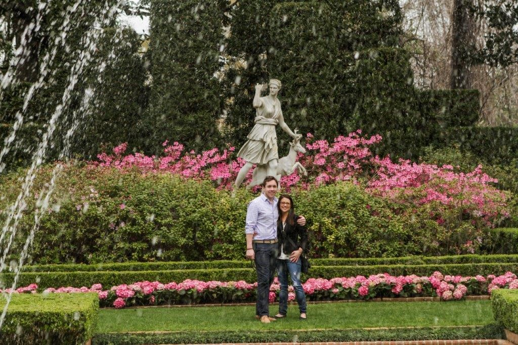 Bayou Bend professional photography - couple at Diana Garden