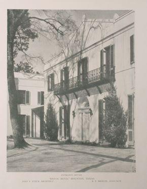 Bayou Bend south facade, c 1931