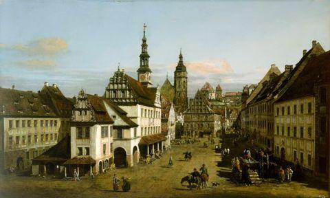 Bernardo Bellotto, The Marketplace at Pirna, c. 1764, oil on canvas