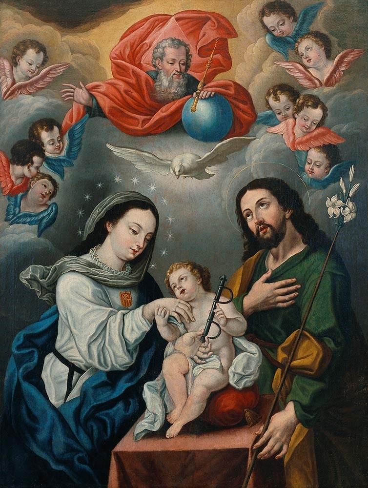 Bernardo Rodriguez Thoma Holy Family With Mercedarian Symbols