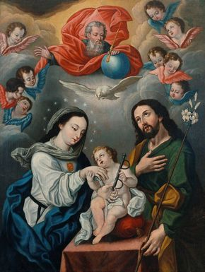 Bernardo Rodriguez (Thoma) - Holy Family with Mercedarian Symbols