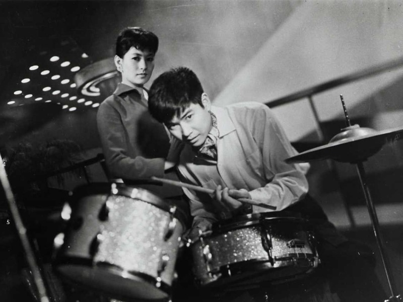 A young ruffian aspires to be a drummer in Tokyo's Ginza jazz world in The Stormy Man, screening on Saturday, June 23.