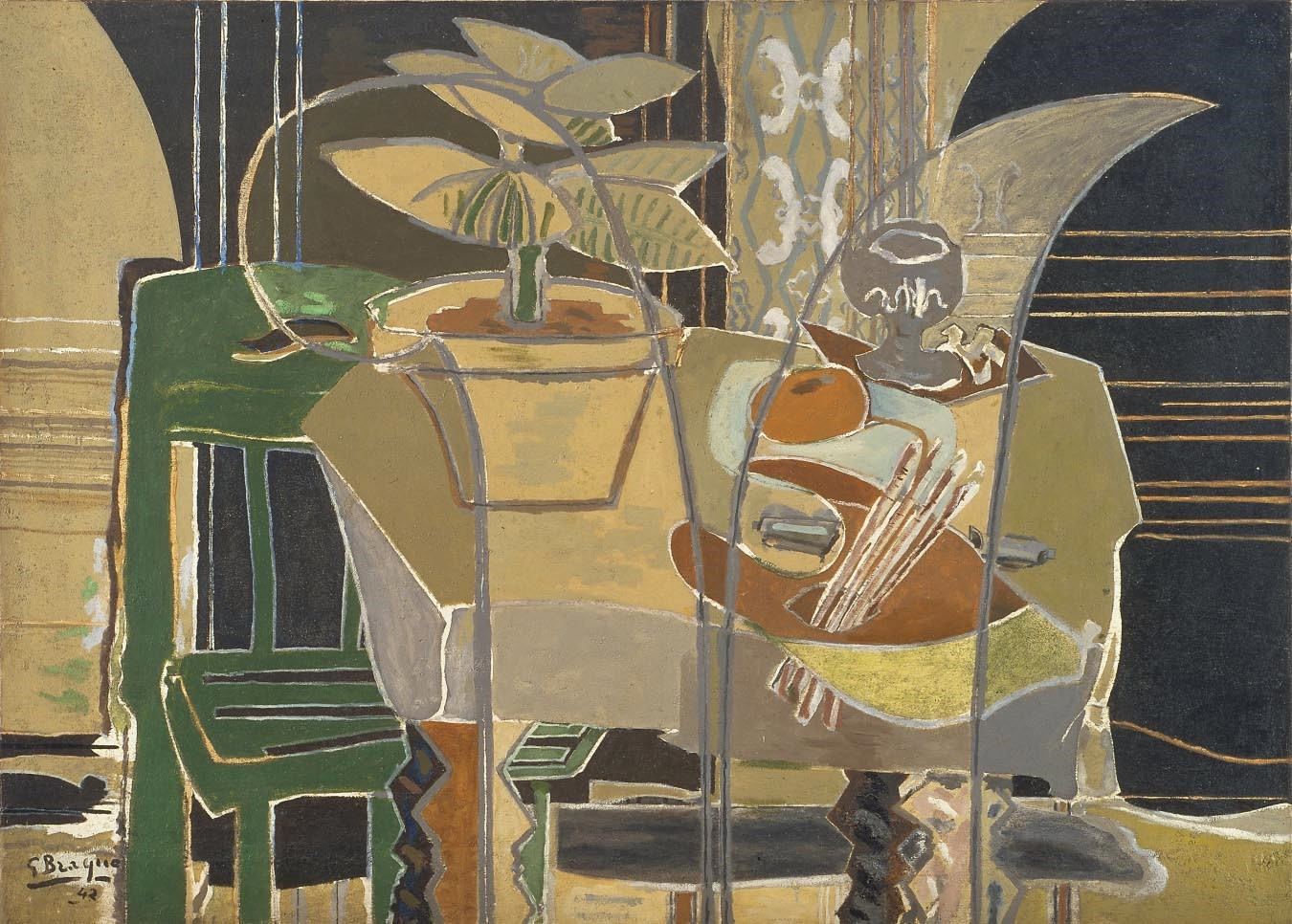 Braque- Large Interior with Palette