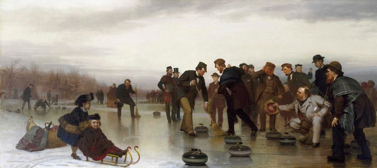 John George Brown, Curling;—A Scottish Game, at Central Park, 1862