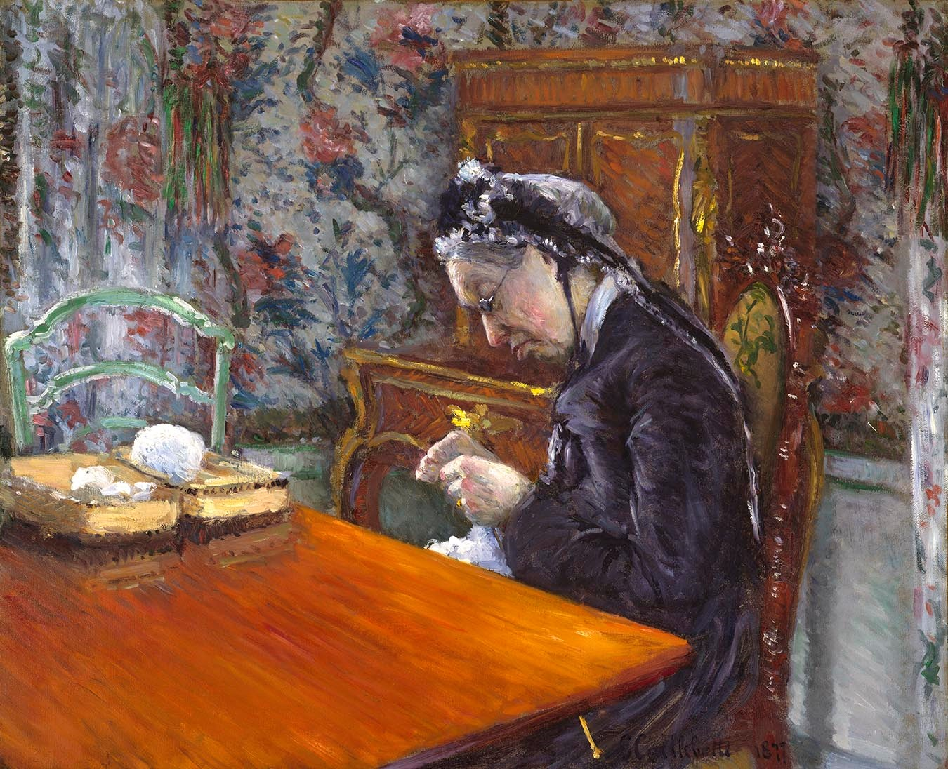 Caillebotte-Knitting