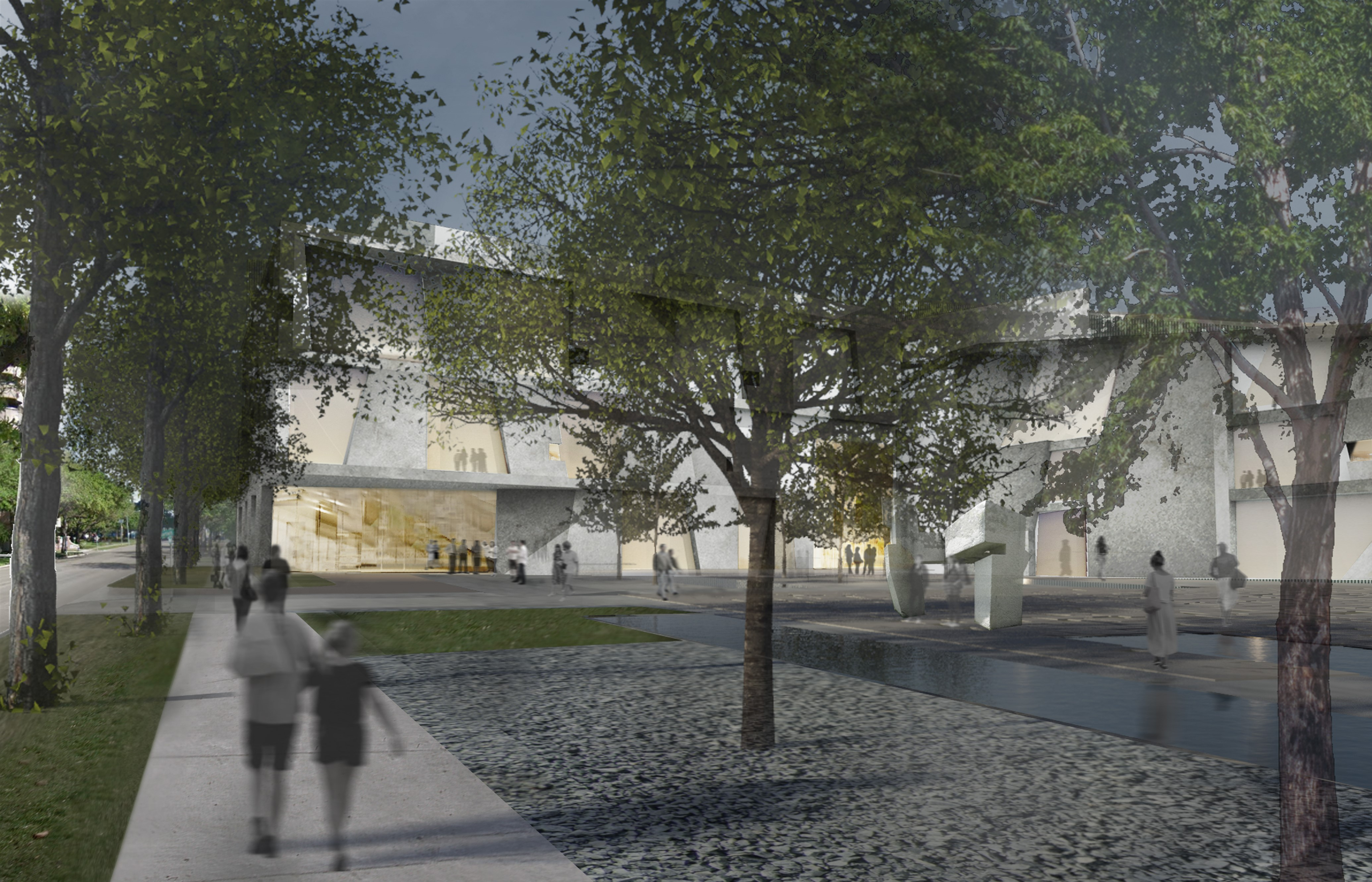 Campus plans - Glassell and Brown Foundation plaza