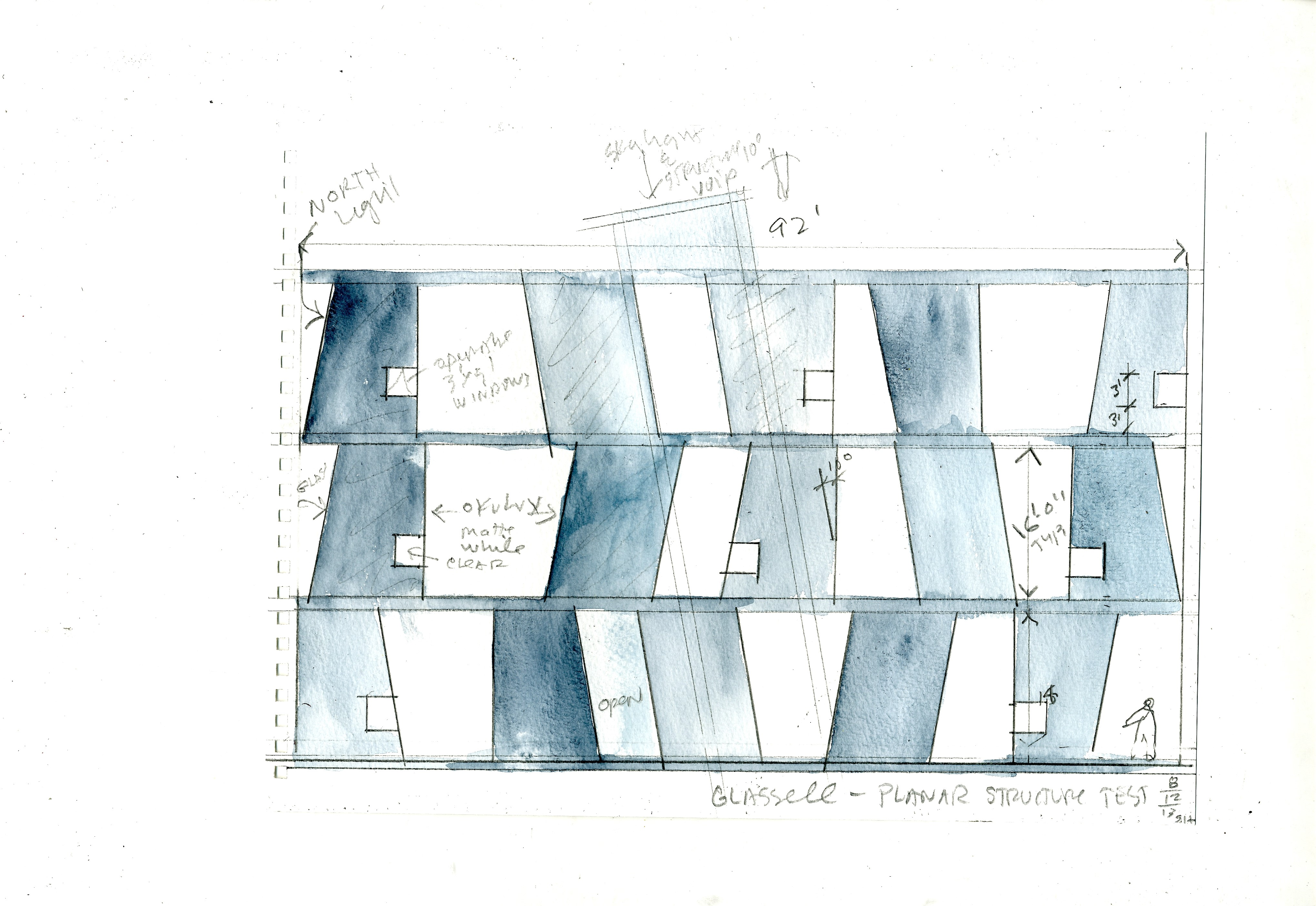 Campus plans - Glassell watercolor