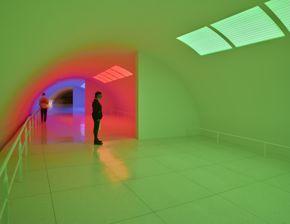 Carlos Cruz-Diez, Chromosaturation MFAH, 1965/2017, installed 2020, light installation