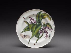 Chelsea Porcelain Works, Plate, c. 1755,porcelain