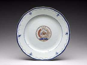 Chinese, Plate,c. 1790, porcelain
