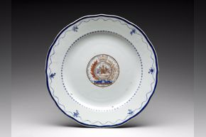 Chinese, Plate, c. 1790, porcelain