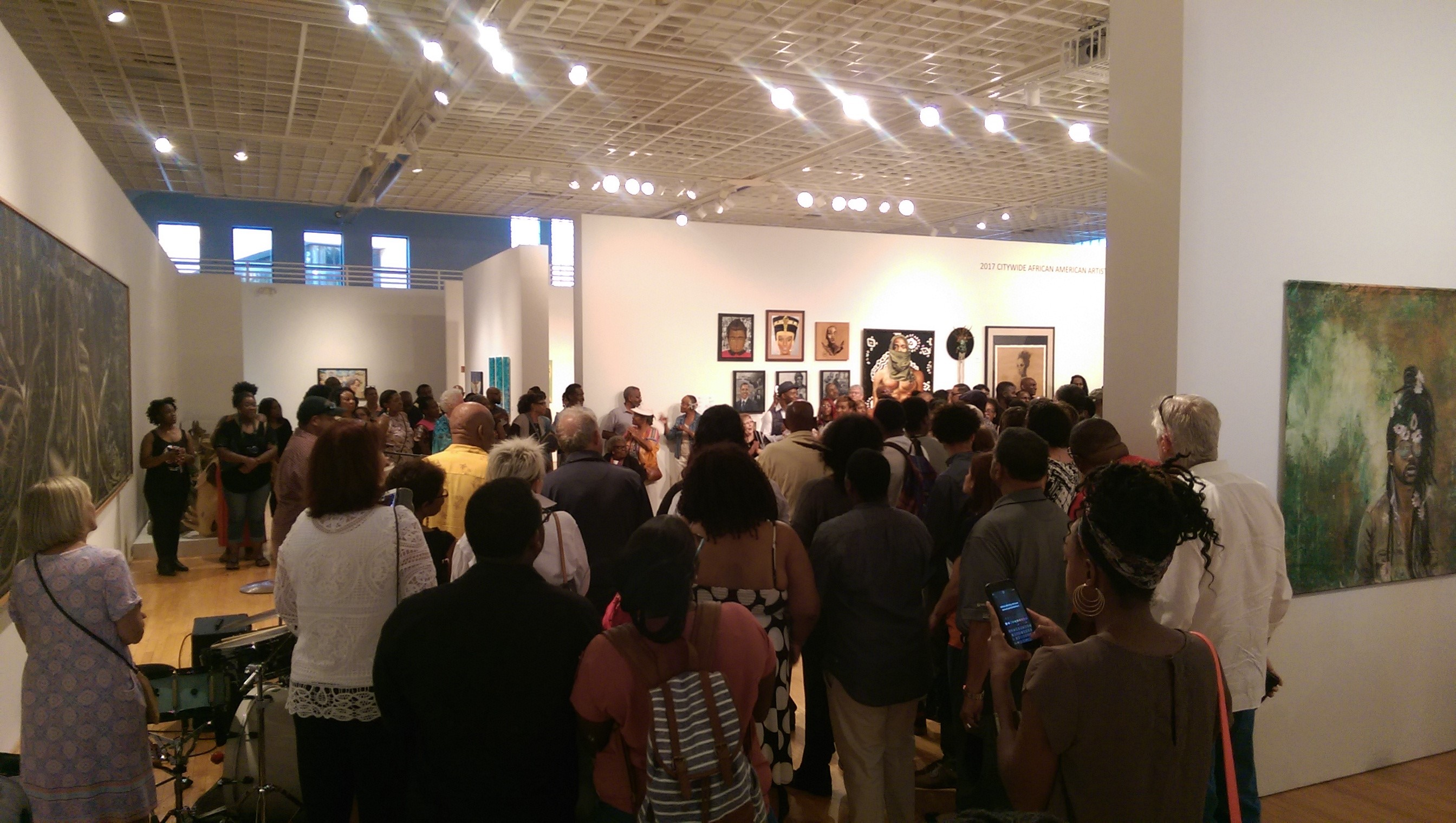 Citywide African American Artists Exhibition 2017 crowd