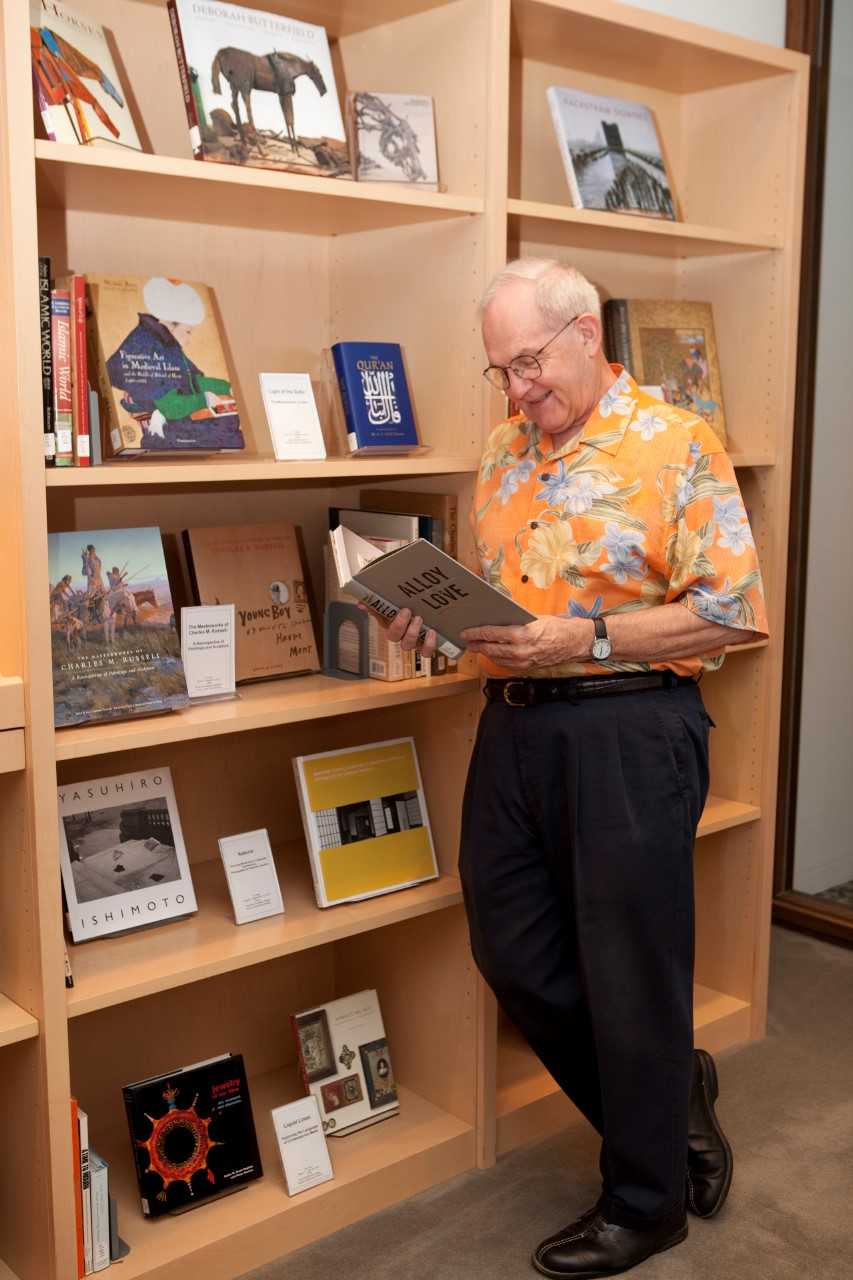 Clint Willour in the Hirsch Library