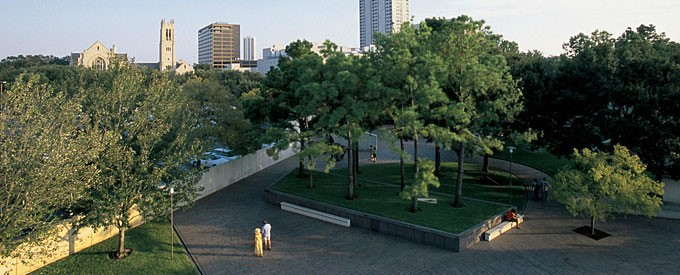 Cullen Sculpture Garden panorama