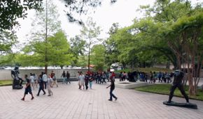 Cullen Sculpture Garden school group