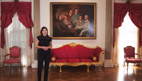Curator Kaylin Weber at Rienzi   The Hand That Was Not Called