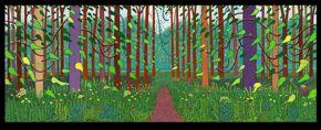 David Hockney, Arrival of Spring in Woldgate, East Yorkshire in 2011, oil on 32 canvases