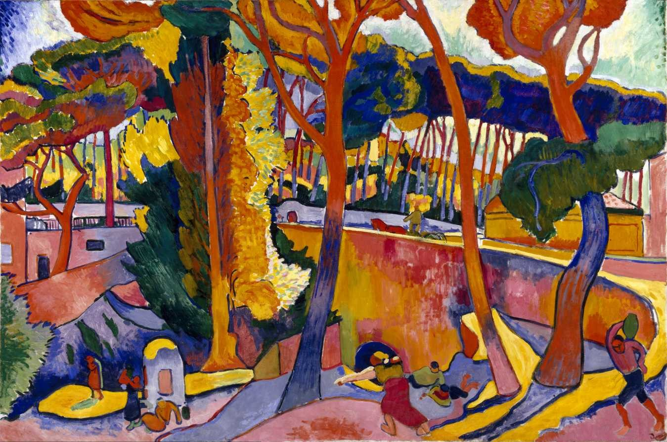 Watercolor art society houston tx - Derain Turning Road
