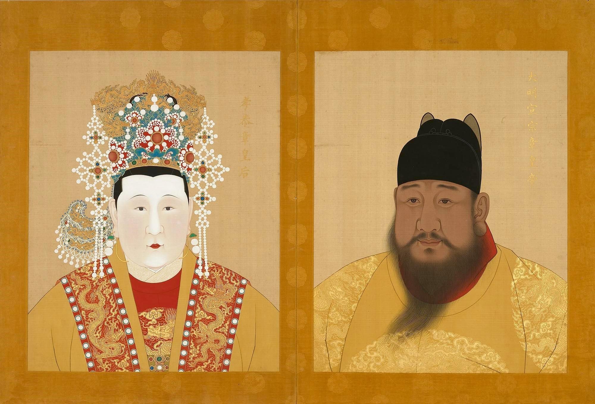 ET - Half portraits of Xuande and Zhang