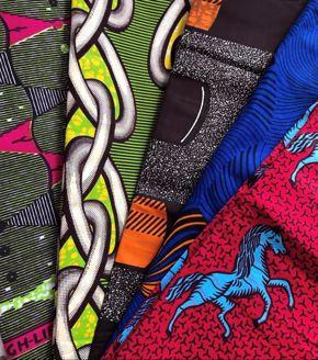 Fabrics from the Fahari Bazaar Collection.