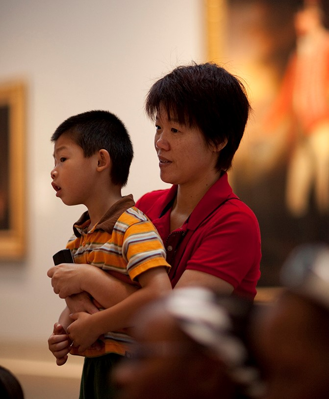 Family - parent and son - in galleries