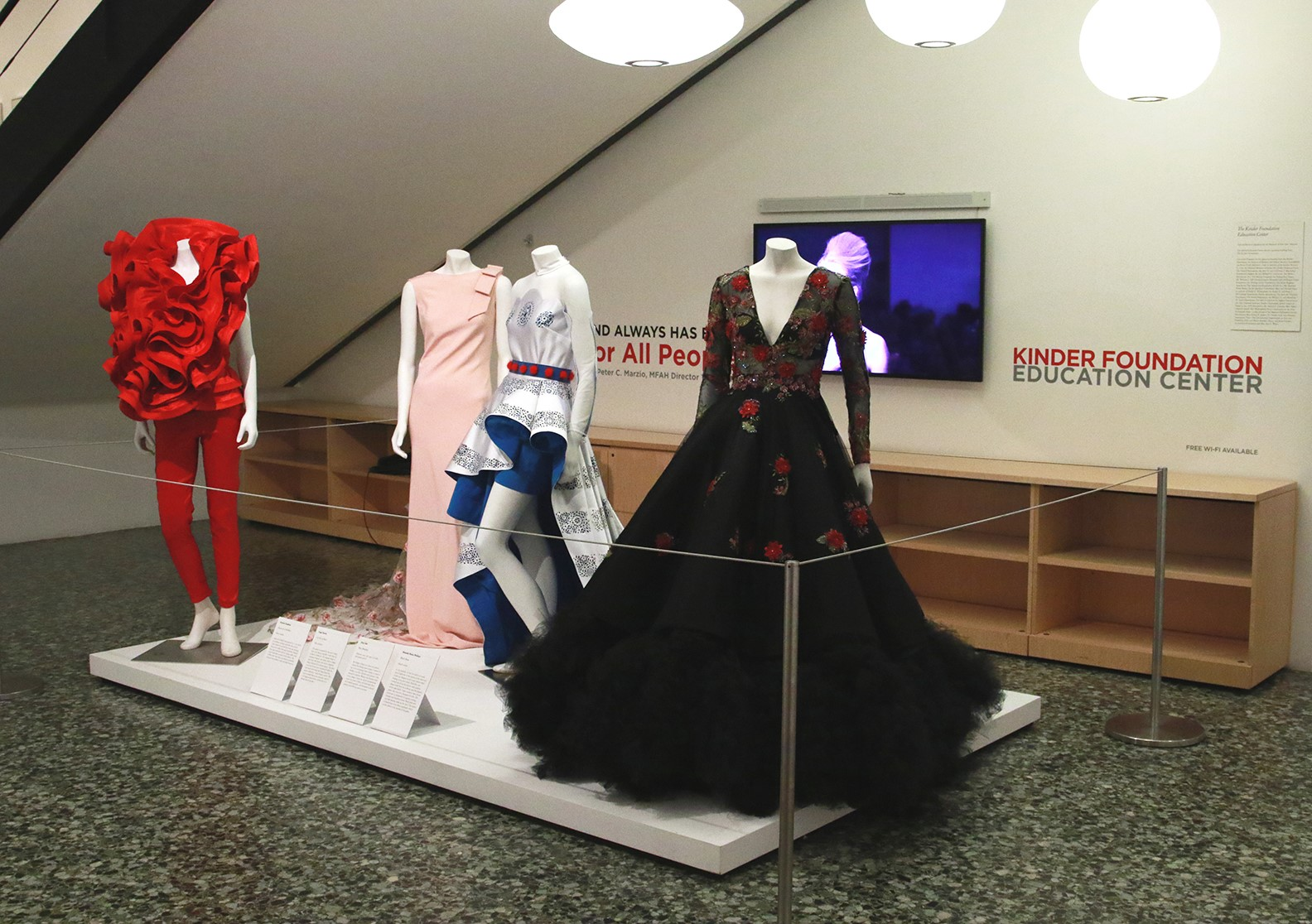 Fashion Fusion 2018 - KFEC display for student winners