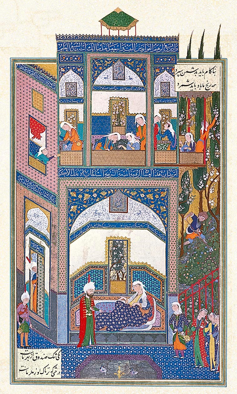 Attributed to 'Abd al-'Aziz directed by Sultan Muhammad, Mihrab Hears of Rudaba's Folly