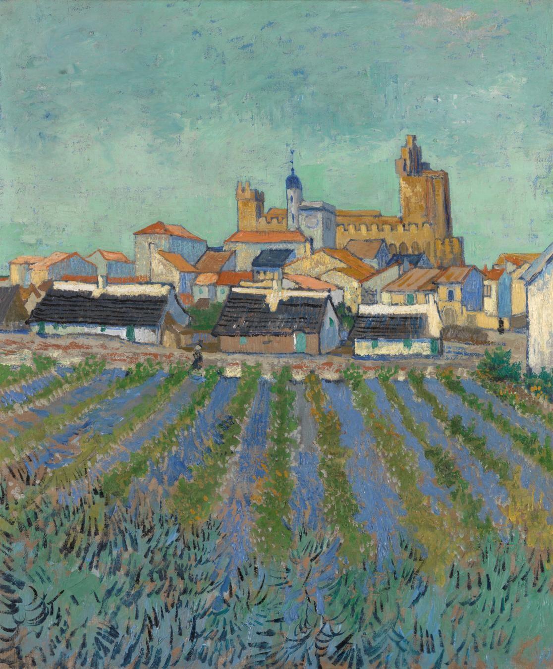 Vincent van Gogh, View of Saintes-Maries-de-la-Mer, June 1888, oil on canvas, Kröller-Müller Museum, Otterlo. © Kröller-Müller Museum