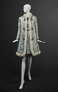 Oscar de la Renta, Coat and Dress Ensemble (detail), fall 1968