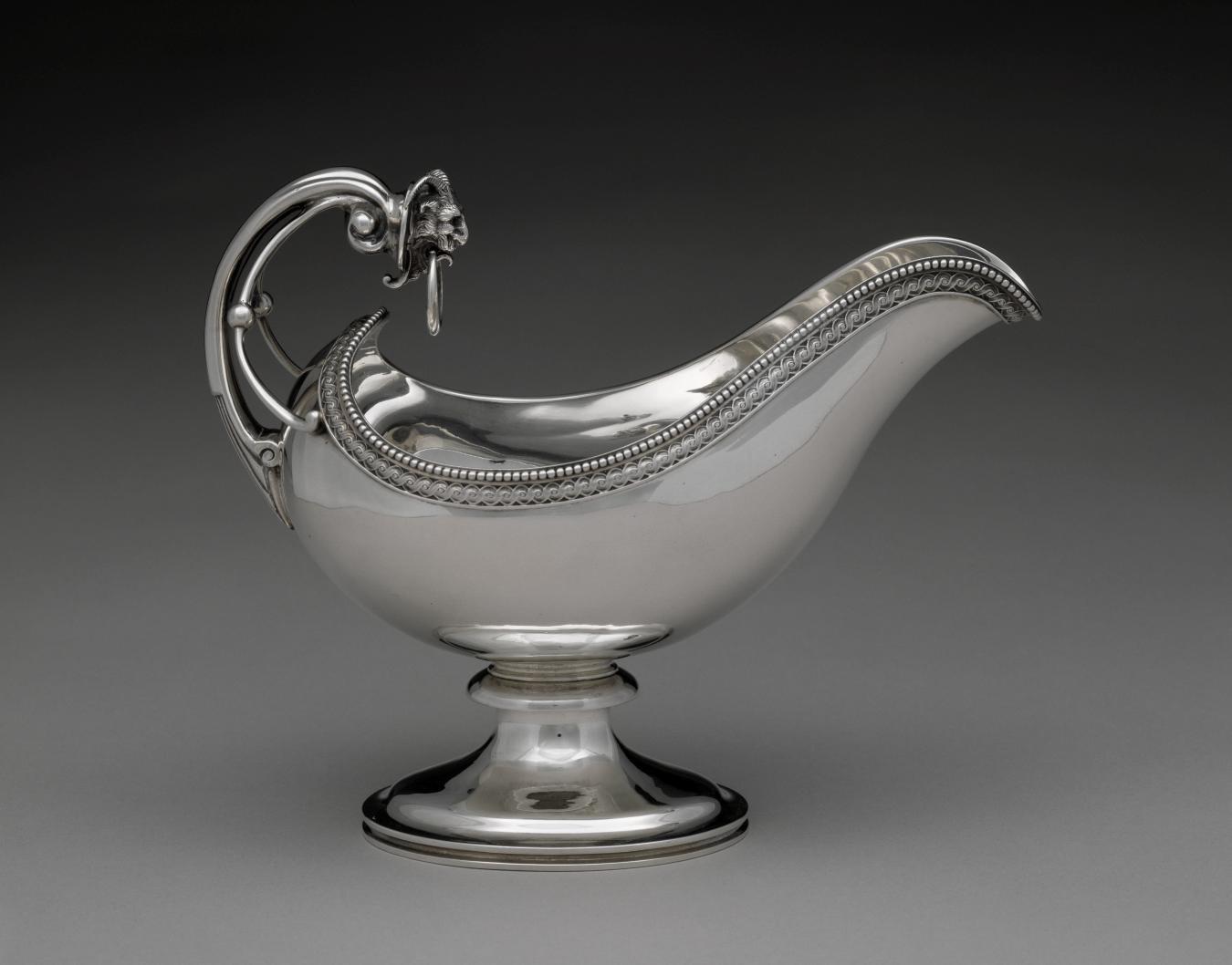 J. E. Caldwell & Co., Sauceboat, 1860–75, silver, the Bayou Bend Collection