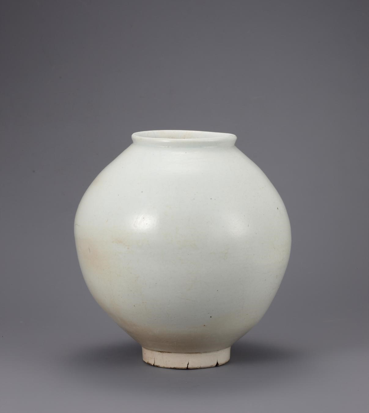 Korean, White Porcelain Jar, 18th century