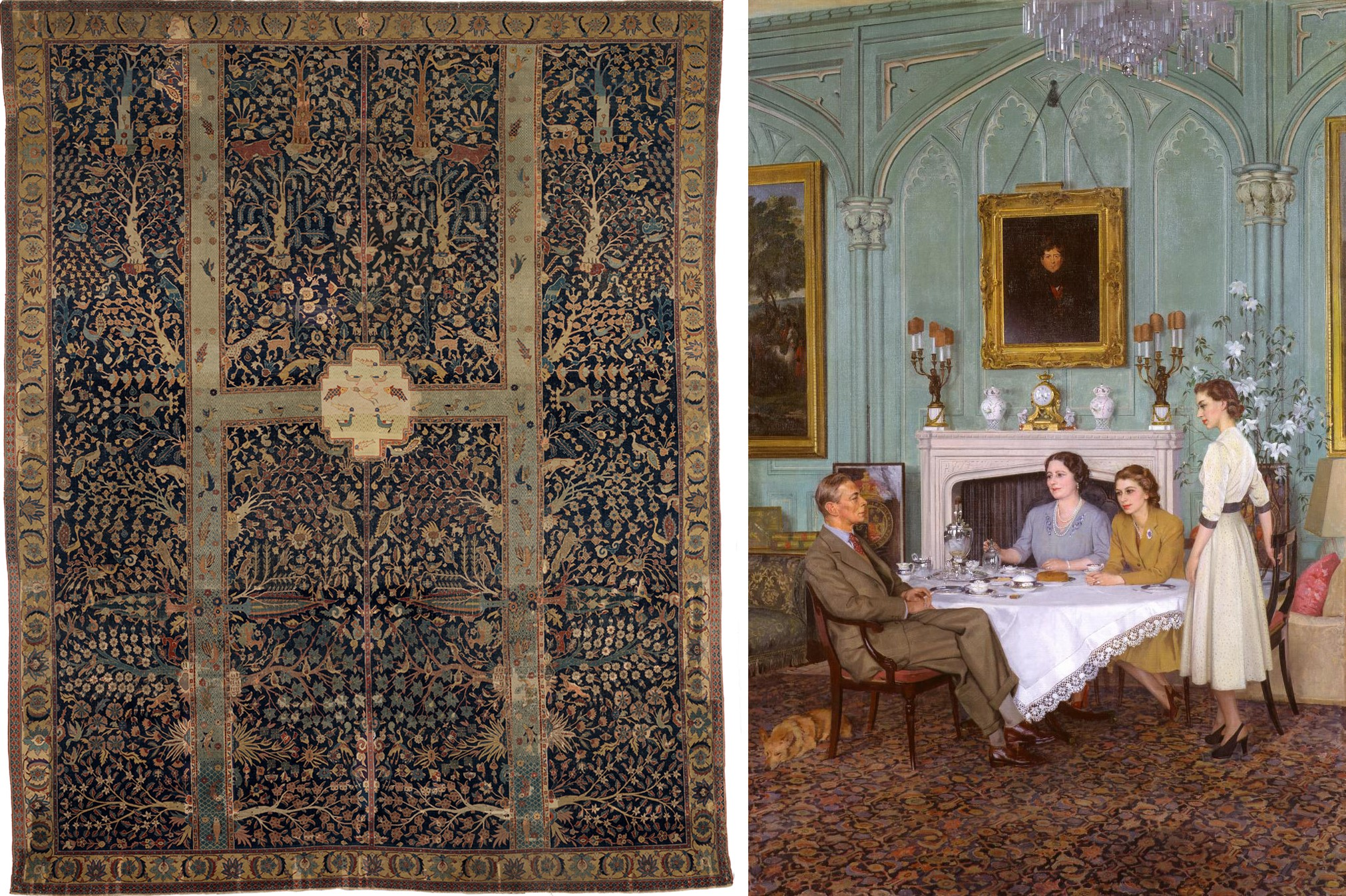FOR TUDORS AND GARDEN PARADISE BLOG POST ONLY - Wagner Garden Carpet + Conversation Piece at the Royal Lodge